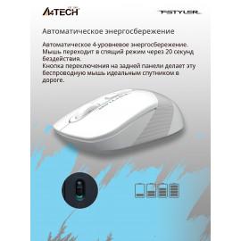 Мышь A4Tech Fstyler FG10 белый/серый оптическая (2000dpi) беспроводная USB (4but)