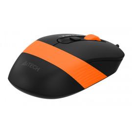 Мышь A4Tech Fstyler FM10 черный/оранжевый оптическая (1600dpi) USB (4but)
