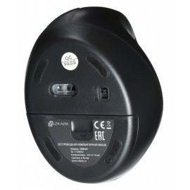 Мышь Оклик 688MW ERGO черный оптическая (1600dpi) беспроводная USB (8but)