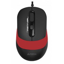 Мышь A4Tech Fstyler FM10 черный/красный оптическая (1600dpi) USB (4but)