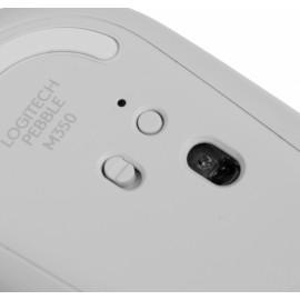 Мышь Logitech Pebble M350 белый оптическая (1000dpi) silent беспроводная BT/Radio USB для ноутбука (3but)
