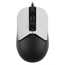Мышь A4Tech Fstyler FM12 Panda белый/черный оптическая (1200dpi) USB (3but)
