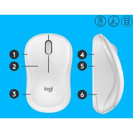 Мышь Logitech Silent M220-OFFWHITE белый оптическая (1000dpi) silent беспроводная USB для ноутбука (3but)