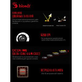 Мышь A4Tech Bloody A90 черный оптическая (6200dpi) USB3.0 (8but)