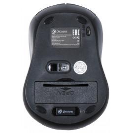 Мышь Оклик 415MW черный оптическая (1600dpi) беспроводная USB (3but)