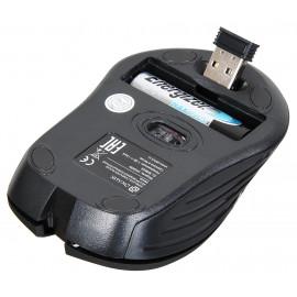 Мышь Оклик 545MW черный оптическая (1600dpi) беспроводная USB для ноутбука (4but)