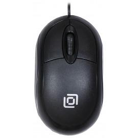 Мышь Оклик 105S черный оптическая (800dpi) USB для ноутбука (2but)