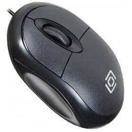 Мышь Оклик 105S черный оптическая (800dpi) USB для ноутбука (3but)