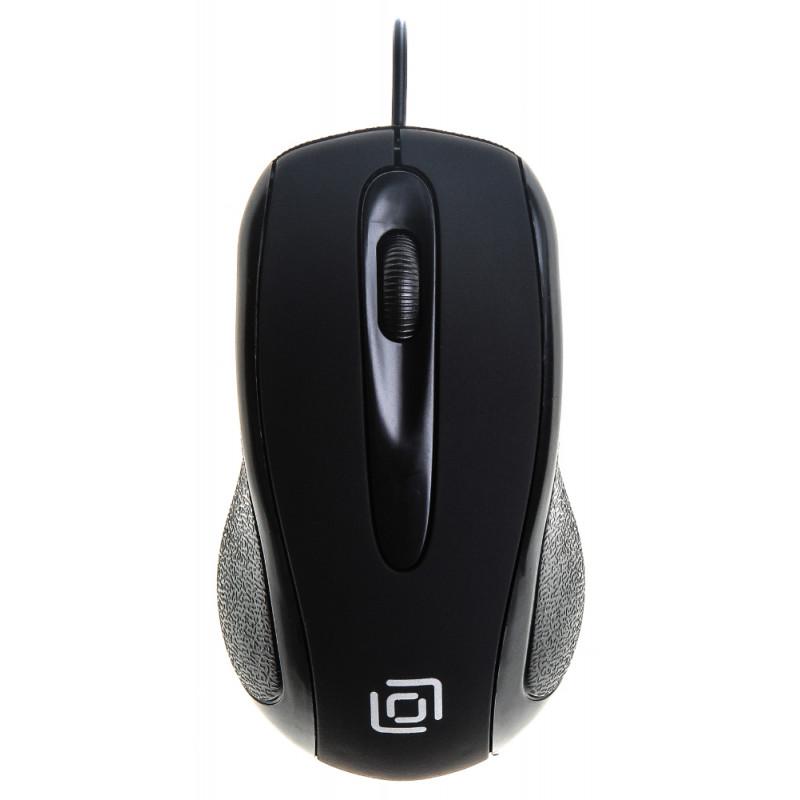 Мышь Оклик 295M черный оптическая (1000dpi) USB (2but)
