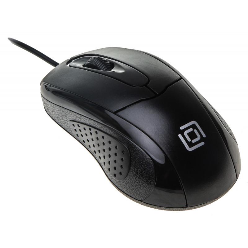 Мышь Оклик 305M черный оптическая (1000dpi) USB (3but)