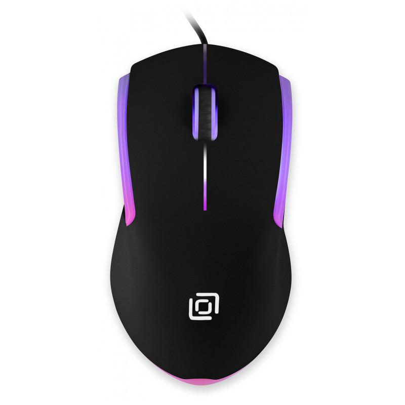 Мышь Оклик 245M черный оптическая (1000dpi) USB (3but)