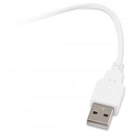 Мышь Оклик 245M белый оптическая (1000dpi) USB (3but)