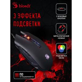 Мышь A4Tech Bloody Q80 черный оптическая (3200dpi) USB3.0 (8but)
