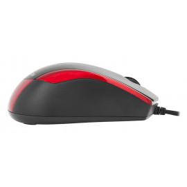 Мышь A4Tech V-Track Padless N-400 черный/красный оптическая (1000dpi) USB (3but)