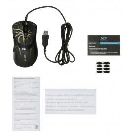 Мышь A4Tech Oscar Editor XL-747H коричневый/рисунок лазерная (3600dpi) USB2.0 (6but)
