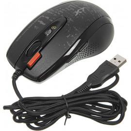 Мышь A4Tech V-Track F5 черный/рисунок оптическая (3000dpi) USB (6but)