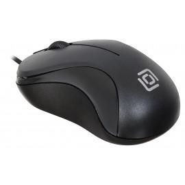 Мышь Оклик 115S черный оптическая (1000dpi) USB для ноутбука (3but)