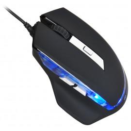 Мышь Оклик 715G черный/серебристый оптическая (3200dpi) USB (6but)