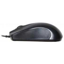 Мышь Оклик 185M черный оптическая (1000dpi) USB (3but)