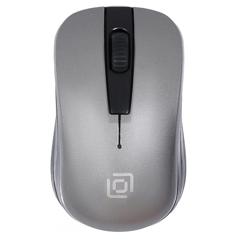 Мышь Оклик 445MW черный/серый оптическая (1600dpi) беспроводная USB для ноутбука (3but)