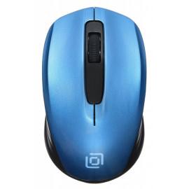 Мышь Оклик 475MW черный/синий оптическая (1000dpi) беспроводная USB для ноутбука (3but)