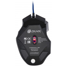 Мышь Оклик 775G Ice Claw черный оптическая (2400dpi) USB (7but)