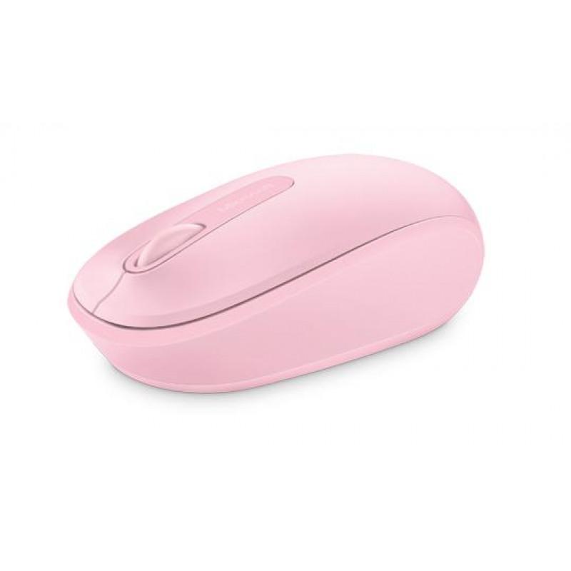 Мышь Microsoft Mobile Mouse 1850 розовый оптическая (1000dpi) беспроводная USB для ноутбука (2but)