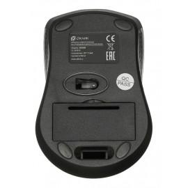 Мышь Оклик 485MW черный оптическая (1000dpi) беспроводная USB для ноутбука (3but)