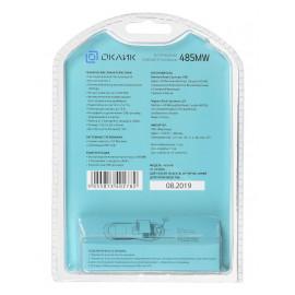 Мышь Оклик 485MW черный/синий оптическая (1000dpi) беспроводная USB для ноутбука (3but)
