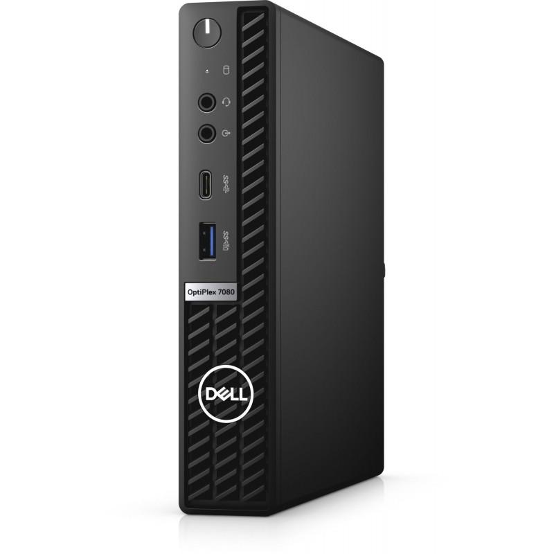 ПК Dell Optiplex 7080 Micro i7 10700 (2.9)/8Gb/SSD256Gb/UHDG 630/Windows 10 Professional/GbitEth/WiFi/BT/180W/клавиатура/мышь/черный