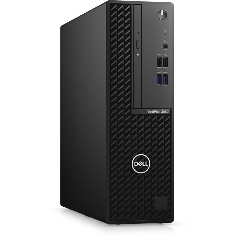 ПК Dell Optiplex 3080 SFF i5 10500 (3.1)/8Gb/SSD256Gb/UHDG 630/Windows 10 Professional/GbitEth/200W/клавиатура/мышь/черный