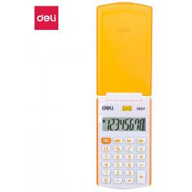 Калькулятор карманный Deli E39217/OR оранжевый 8-разр.
