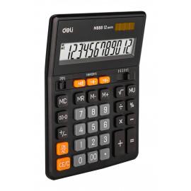 Калькулятор настольный Deli EM888 черный 12-разр.