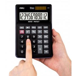 Калькулятор настольный Deli EM04031 черный 12-разр.