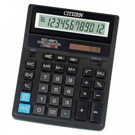 Калькулятор бухгалтерский Citizen SDC 888TII черный 12-разр.
