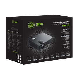 Проектор Cactus CS-PRE.09B.WVGA LCD 1200Lm (800x1280) 350:1 ресурс лампы:30000часов 2xUSB typeA 1xHDMI 1.5кг