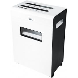 Шредер Deli E9903-EU белый/черный (секр.P-4) фрагменты 12лист. 23лтр. скрепки скобы пл.карты CD