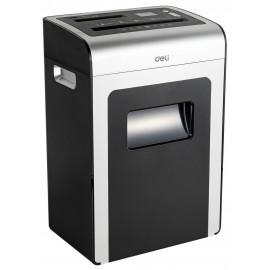 Шредер Deli E9917-EU черный/белый с автоподачей (секр.P-4)/фрагменты/16лист./31лтр./скрепки/скобы/пл.карты/CD