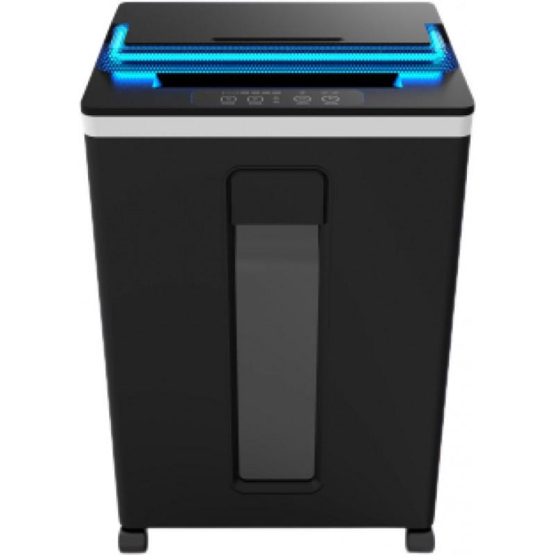 Шредер Office Kit S165UV черный (секр.P-5)/фрагменты/8лист./22лтр./скобы
