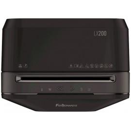 Шредер Fellowes PowerShred LX200 черный (секр.P-4)/перекрестный/12лист./22лтр./скрепки/скобы/пл.карты