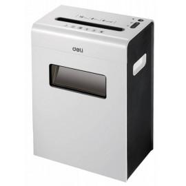 Шредер Deli Touch E9921-EU белый (секр.P-4)/фрагменты/6лист./16лтр./скрепки/скобы/пл.карты