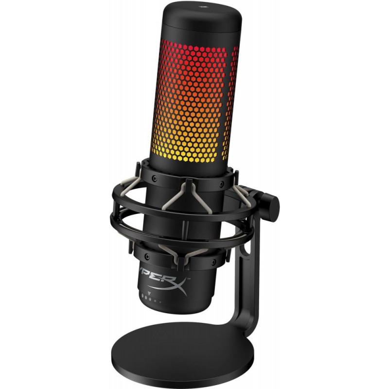 Микрофон проводной HyperX QuadCast S 3м черный