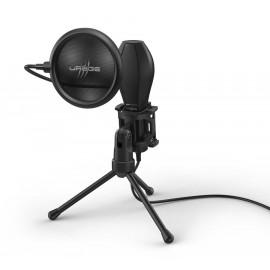 Микрофон проводной Hama Stream 400 Plus 2м черный