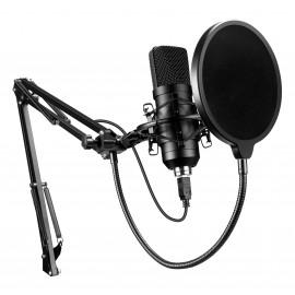 Микрофон проводной Оклик SM-700G 2.5м черный