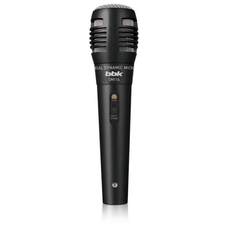 Микрофон проводной BBK CM114 2.5м черный