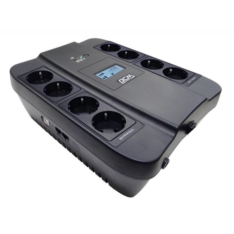Источник бесперебойного питания Powercom Spider SPD-1100U LCD 605Вт 1100ВА черный