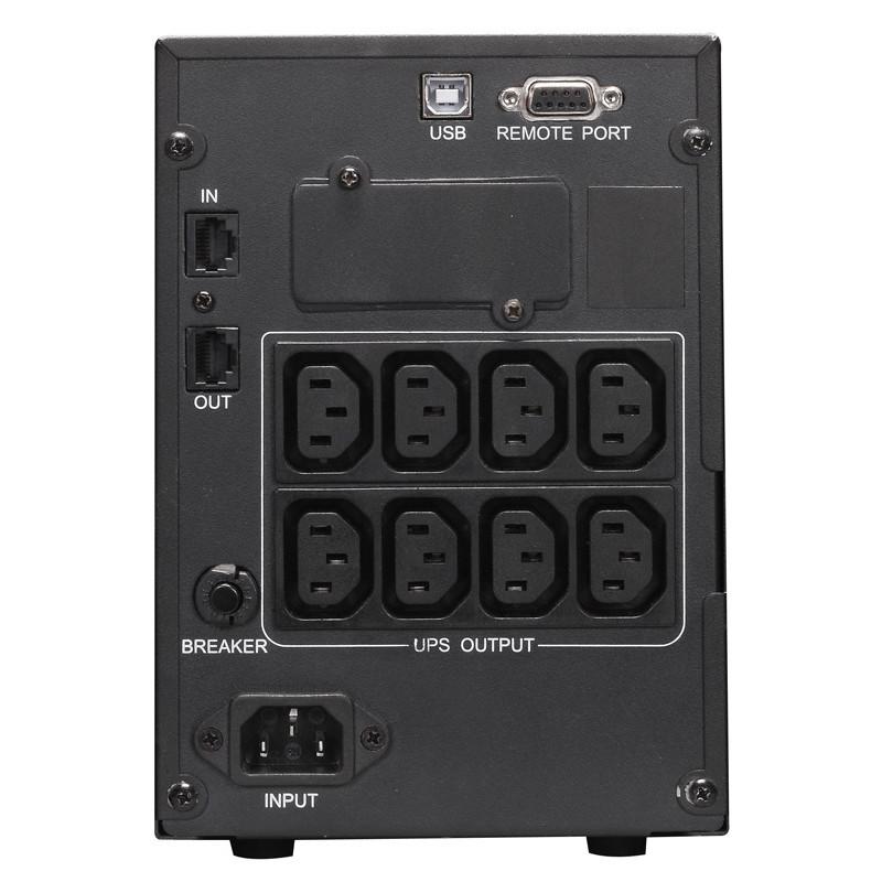 Источник бесперебойного питания Powercom Smart King Pro+ SPT-1000-II LCD 800Вт 1000ВА черный