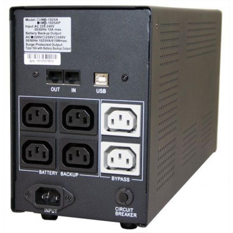 Источник бесперебойного питания Powercom Imperial IMP-1500AP 900Вт 1500ВА черный