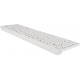 Клавиатура + мышь Оклик 240M клав:белый мышь:белый USB беспроводная slim Multimedia