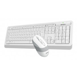 Клавиатура + мышь A4Tech Fstyler FG1010 клав:белый/серый мышь:белый/серый USB беспроводная Multimedia